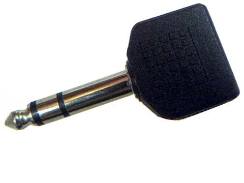 Y-Adapter 2X 3,5 Klinkenbuchse -> 1 6,3 Klinkenstecker