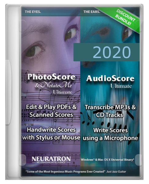 PhotoScore & NotateMe Ultimate 2020 und AudioScore Ultimate 2020 Upgradebundle, engl. - Download