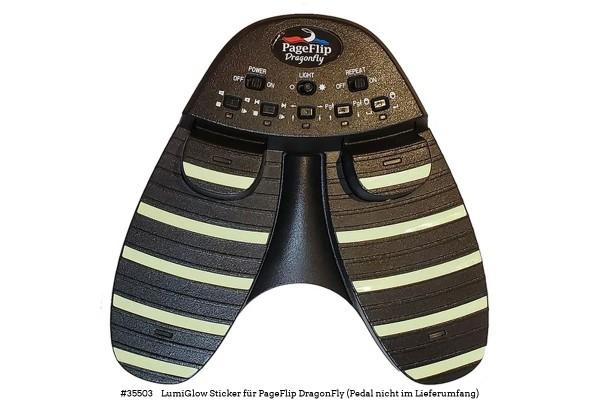 PageFlip LumiGlow-Sticker für Dragonfly-Pedal