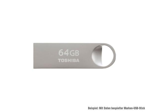 MediaPak: 64 GB Marken-USB2-Stick mit Daten bespielt