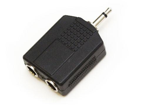 Y-Adapter 2x Klinkenbuchse an Mini Klinkenstecker, unsym.