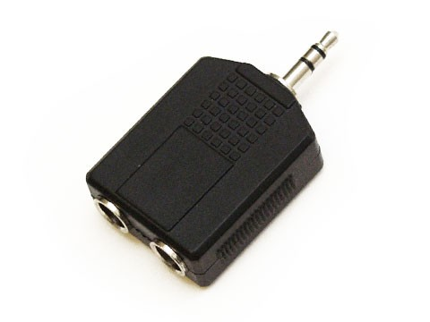 Y-Adapter 2x Klinkenbuchse an Mini Klinkenstecker, symm.