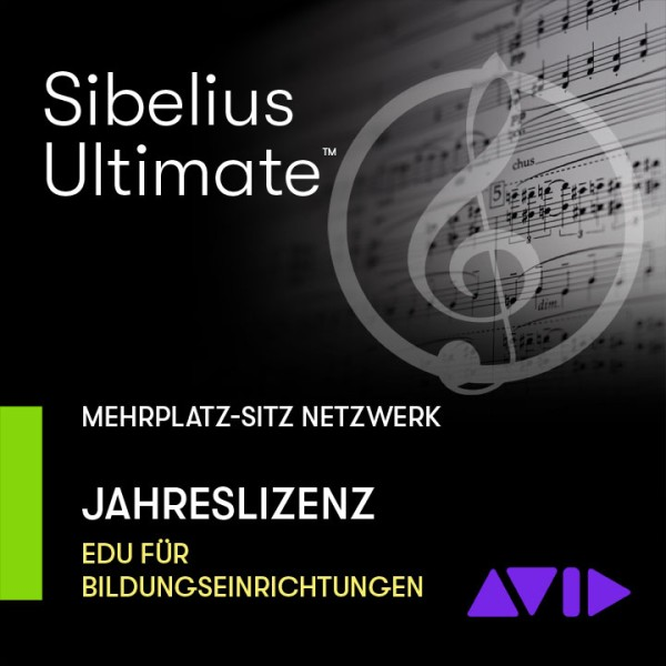 Sibelius Ultimate Netzwerk Jahreslizenz - Mehrplatz SITZ