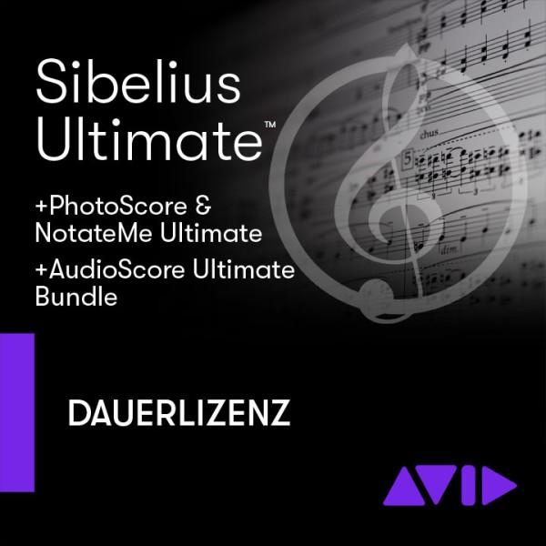 Sibelius Ultimate Dauerlizenz + PhotoScore & NotateMe Ultimate + AudioScore Ultimate - Download