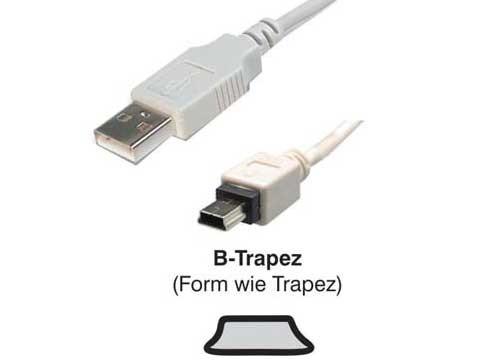 USB Mini-Kabel (B Mini 5 Pol an USB-A), 4,5m