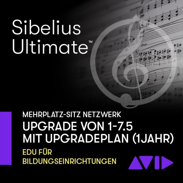 Sibelius Ultimate Netzwerk Dauerlizenz - Mehrplatz UPGRADE SITZ von 1 - 7.5