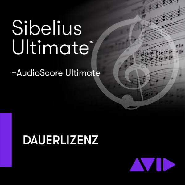 Sibelius Ultimate Dauerlizenz + AudioScore Ultimate - Download